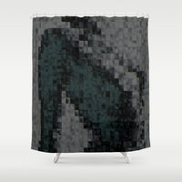 naked Shower Curtains featuring Naked by Maria Julia Bastias