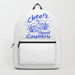 Cheers To Good Country Song 3 Backpack