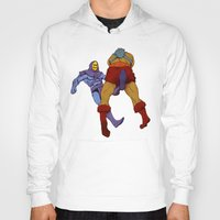 skeletor Hoodies featuring skeletor kick by Toni Caputo