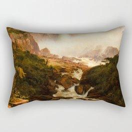"Frederic Church ""The Falls of the Tequendama near Bogota, New Granada"" Rectangular Pillow"