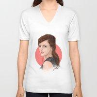 emma watson V-neck T-shirts featuring Emma Watson by joanpsart