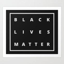 BLACK LIVES MATTER //  Minimal Typography Art Print