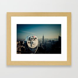 The Top of the Rock Framed Art Print