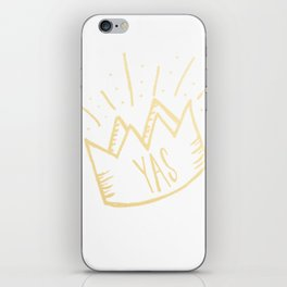 YAS QUEEN (gold) iPhone Skin