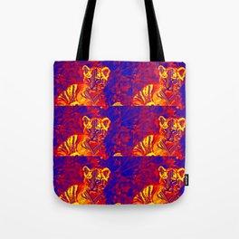 Aztec lion cub Tote Bag