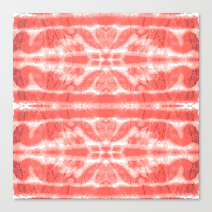 Tie Dye Twos Corals Leinwanddruck
