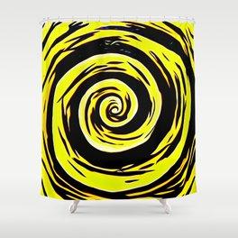 Hypnotic Yellows Shower Curtain