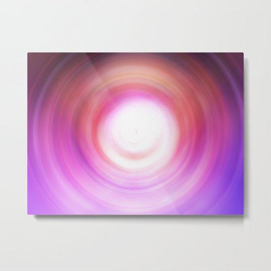 Purple and White Swirl Metal Print