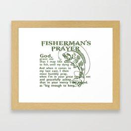 Fisherman's Prayer Framed Art Print