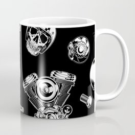 Cafe Racer Pattern Coffee Mug