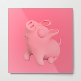 Rosa the Pig Snobby Metal Print