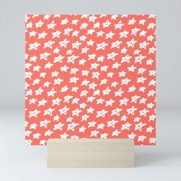 Stars Living Coral Mini Art Print