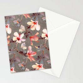 Coral Hibiscus Stationery Cards