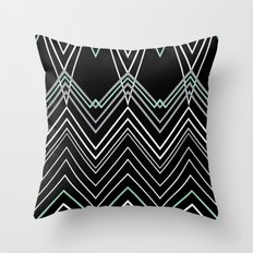 Mint Chevy on Black Throw Pillow