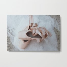 Pointe shoes 2 - the ballet collection Metal Print