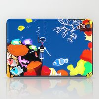 scuba iPad Cases featuring Corky the scuba-diver by Dano77