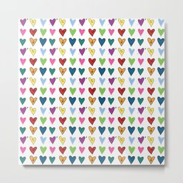 Hearts Explosion Metal Print