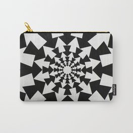 Radial Arrow Design(Black and White) Carry-All Pouch