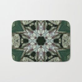 The Green Unsharp Mandala 6 Bath Mat