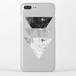 Night marble triangles Clear iPhone Case