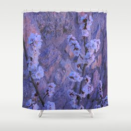 Pear Blossoms Lilac Shower Curtain