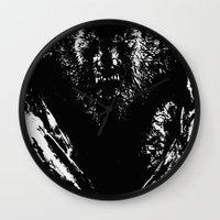 werewolf Wall Clocks featuring Werewolf by PCRK