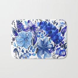Blue flowers galore Bath Mat