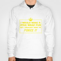 pun Hoodies featuring Intergalactic Pun by Ninja Klee