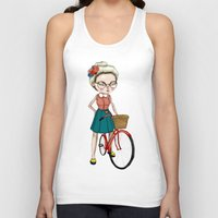 hipster Tank Tops featuring Hipster by Maripili