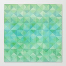 Green/Blue : Pattern Canvas Print