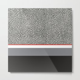 BLACK CEMENT Metal Print