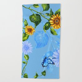 Sunflower's Glory Beach Towel