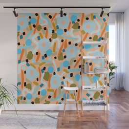 CIRCLES IN MOTION - earthy tones Wall Mural