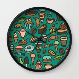 Coffee and pastry  Wall Clock