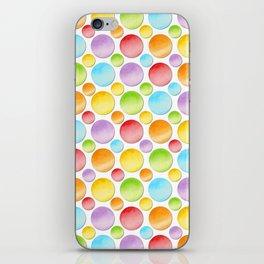 Rainbow Polka Dots iPhone Skin
