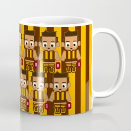 Super cute sports stars - Brown and Gold Aussie Footy Coffee Mug
