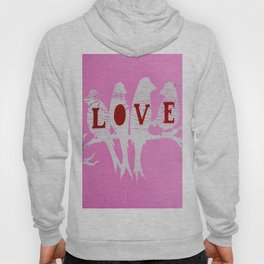 Pink Love Birds Hoody