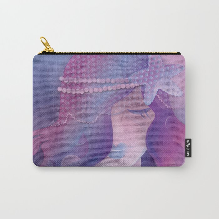 Mermaid IV - Pink Violet Princess Carry-All Pouch