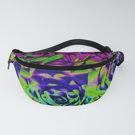 Psychedelic Flower Rows Fanny Pack
