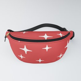 Mid Century Modern Star Pattern 443 Red Fanny Pack