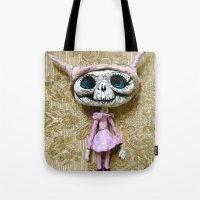 luna Tote Bags featuring Luna by meme