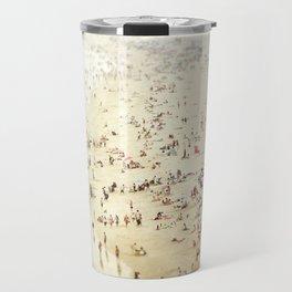 Crowded Beach Travel Mug