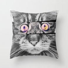 Ailuromaniac Throw Pillow