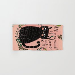 ALL YOU NEED IS LOVE AND A CAT Hand & Bath Towel
