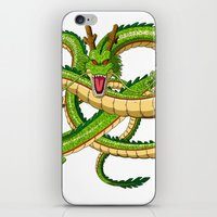 dragon ball iPhone & iPod Skins featuring Shenron Dragon ball by OverClocked