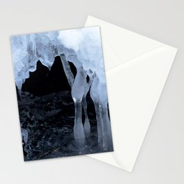 Watercolor Ice 54, Icy Cave of the Dancing Ladies Stationery Cards