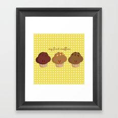 my first muffins Framed Art Print