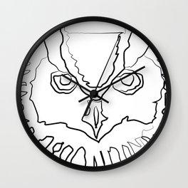 """ Halloween Collection "" - Owl Face Wall Clock"