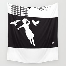 The Black Collection' Birds Wall Tapestry