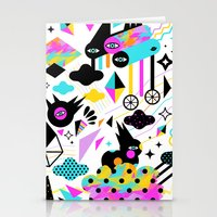 gravity Stationery Cards featuring Gravity by Muxxi